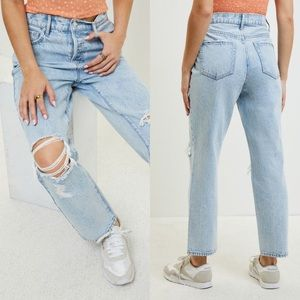 Pacsun high waist straight jeans ripped size 25